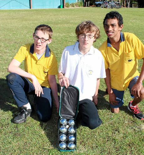 TALENTED: Liam Hourigan (left), Jayden Watson and Anthony Pitt reflecting on their committed boccia efforts.