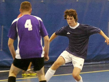 STAMINA: Arlo Hook, seen here in action during winter competition, is one of the region's talented young futsal players.