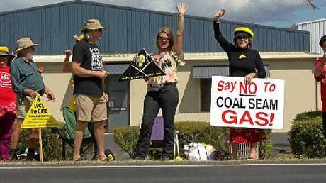 METGASCO PROTESTS: Knitting Nannas not happy.