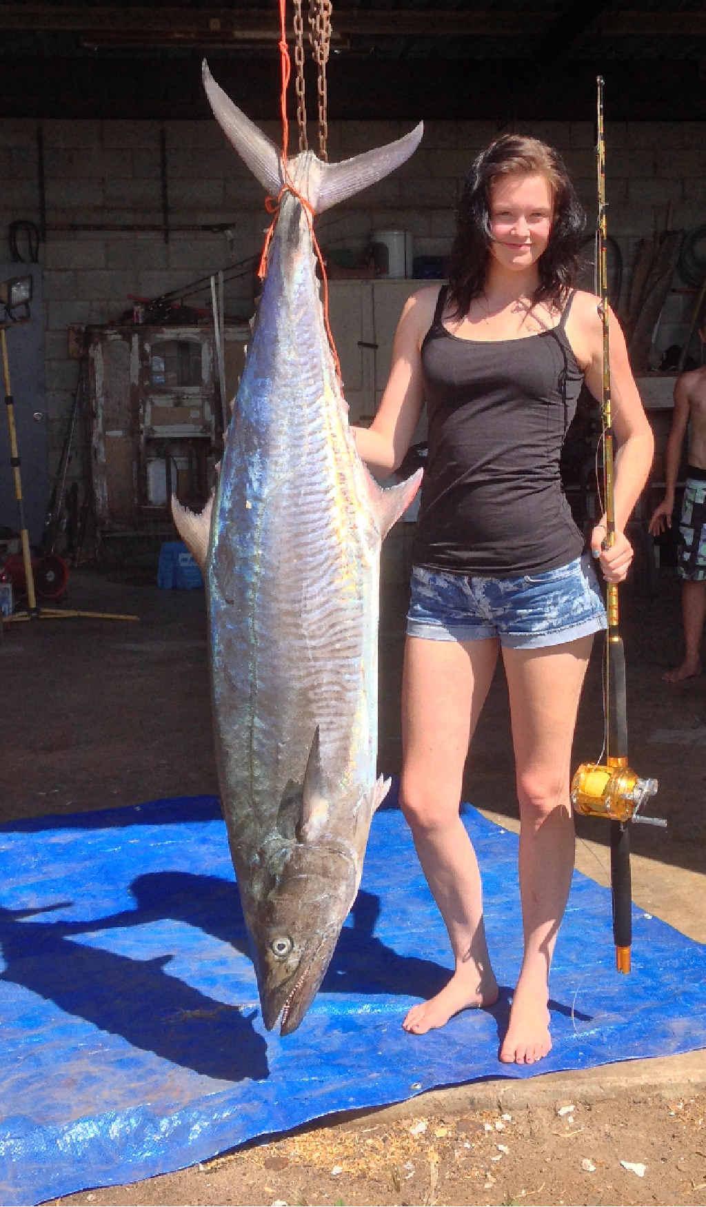 Stephanie Macpherson with her 36.5 kg Spanish mackerel.