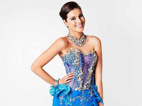 Miss Universe Australia Olivia Wells in the dress Mackay's Jason Chetcuti designed.