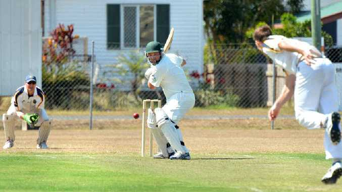 IN FORM: Souths wicketkeeper Chris Cant, Walkerston batsman Luke Jackson (133) and Souths bowler Shane Paget in action at Harrup Park.