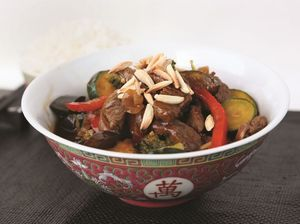 Shanghai Beef Stirfry with Almonds