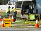 NBN workers Brelsford Park Photo: Trevor Veale / The Coffs Coast Advocate
