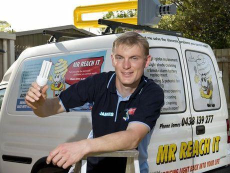 James Naumann has a business called Mr Reach It.