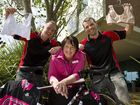 Sandy Dolleyand Darren Rolfe of iRide Bikes have donated a bike to raise funds for patients of breast care nurse Bronwyn King, from St Vincent's Hospital.