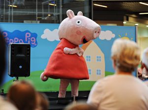 Kids go crazy for Peppa Pig at Canelands