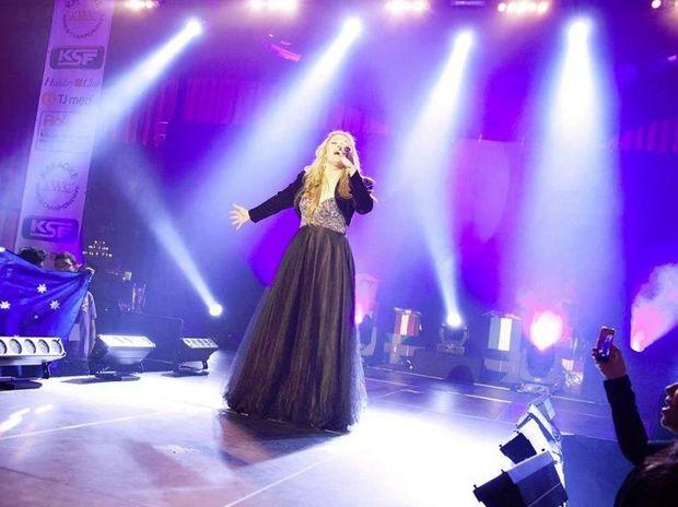 Candice Skjonnemand won last year's Australian Karaoke World Championship.