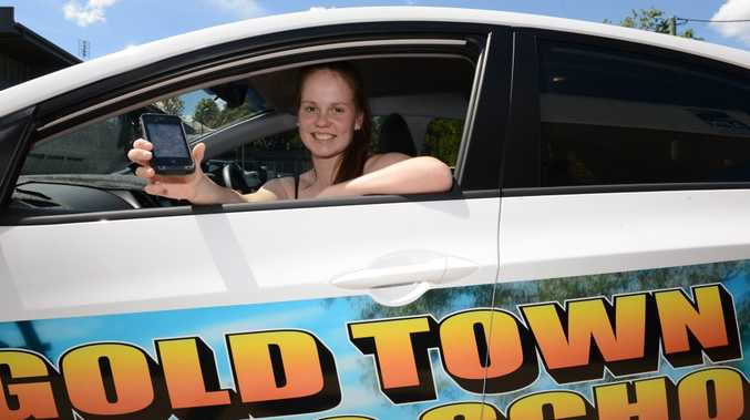 Learner driver Sophie Wright says the new RACQ smart phone app is a good idea to help young drivers log their hours.