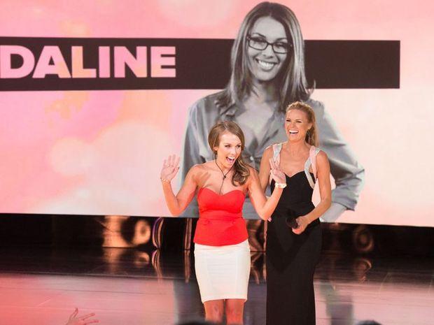Intruder Madaline greets fans and host Sonia Kruger.