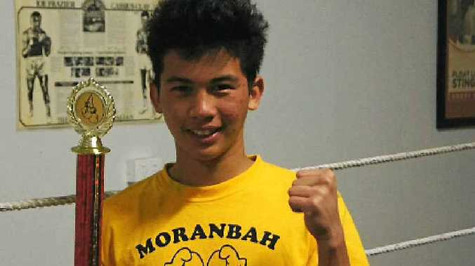 DOCTOR IN THE HOUSE? Eldrich Botor, of Moranbah Boxing Club, has plans to be a doctor.
