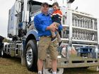 ONE FOR THE ROAD: Jon and James Kelly at the 20th Annual Vintage and Classic Truck, Tractor and Machinery Show.