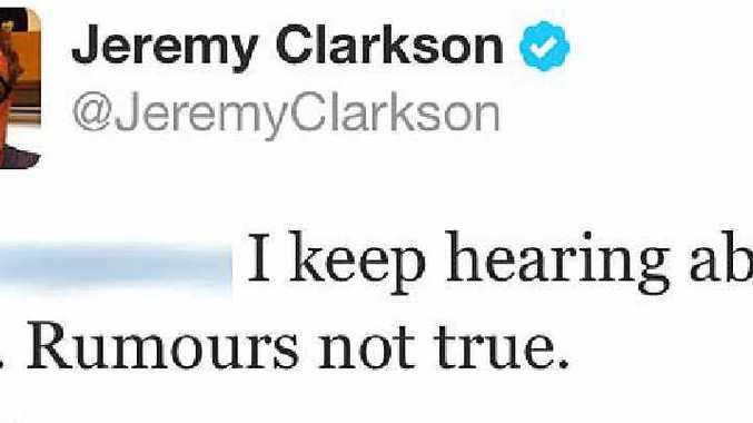 Jeremy Clarkson's tweet to a Daily News staffer.