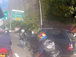 VIDEO: Bikers chase down Range Rover, attack driver