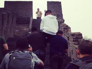 Justin Bieber carried up Great Wall of China