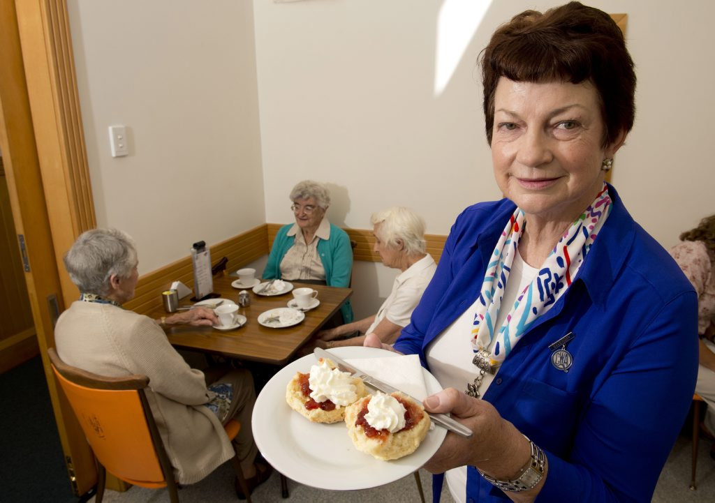 Elaine Kieseker from QCWA. QCWA now allow packet caake mix in their competition. Photo Nev Madsen / The Chronicle