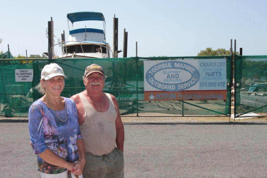 Doug and Heather Cuthbert of Toorbul Marine. Photo Darryn Smith / Sunshine Coast Daily