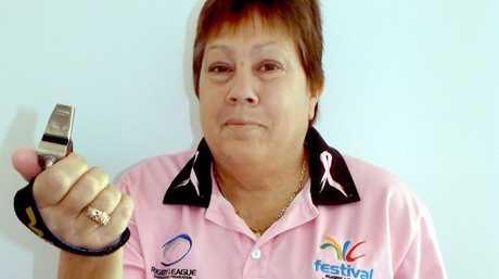 Maryborough rugby league referee Marilyn McKenna.