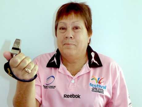Maryborough rugby league referee Marilyn McKenna.
