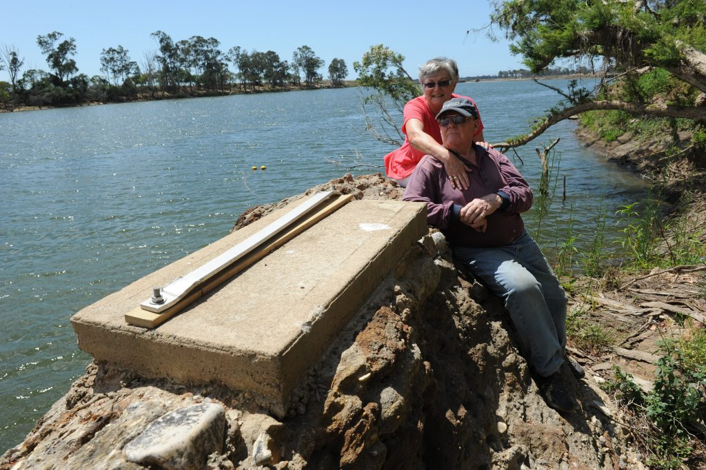 WASHED AWAY: Carole and Richard Marsden lost their pontoon in the January flood. Photo: Mike Knott / NewsMail