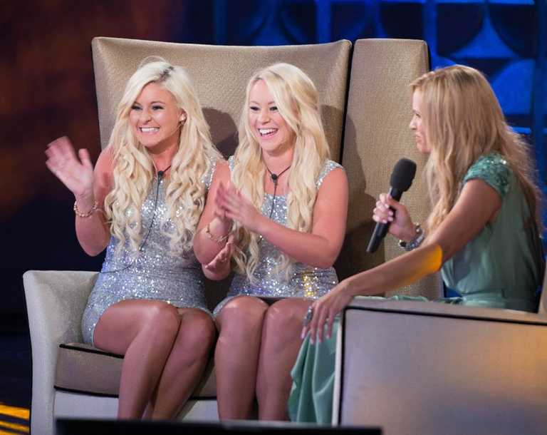 Katie and Lucy talk to host Sonia Kruger.