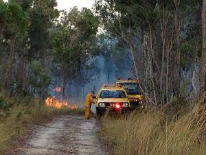 Urban and rural fire crews contain blaze near showgrounds