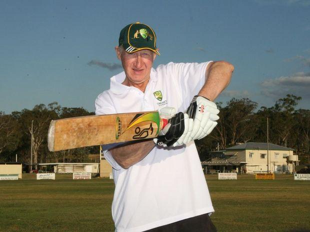 Murgon's Nev Kratzmann represented Australia in the over 60's cricket team.