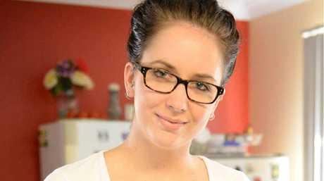 Anja Zemlicoff shows off her tasty vegan meal.