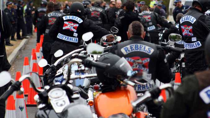 Rebel bikies on a national run. There are fears Gold Coast bikies will head north because of a police blitz.