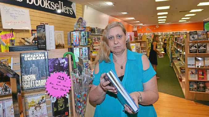 Therese Appleby sees an end of a chapter at Collins Booksellers in Kawana Shoppingworld.