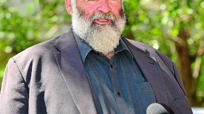 HAT IN THE RING: Bob Abbot announces he will contest the Noosa Council election.