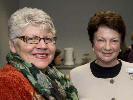 QCWA State president Jennie Hill and Darling Downs division president Elaine Kieseker.