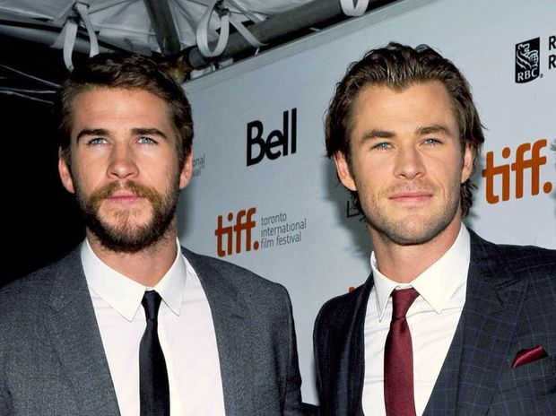 Liam Hemsworth with his brother Chris Hemsworth.