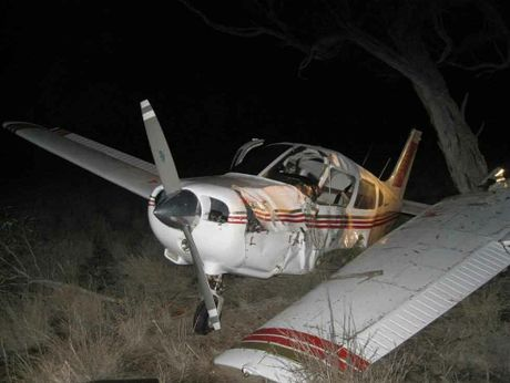 The pilot of this plane was forced to make an emergency landing after an engine failed.