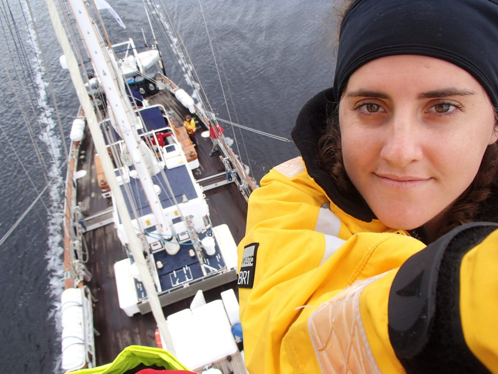 Terranora resident Emma Rylko aboard the STS Young Endeavour.