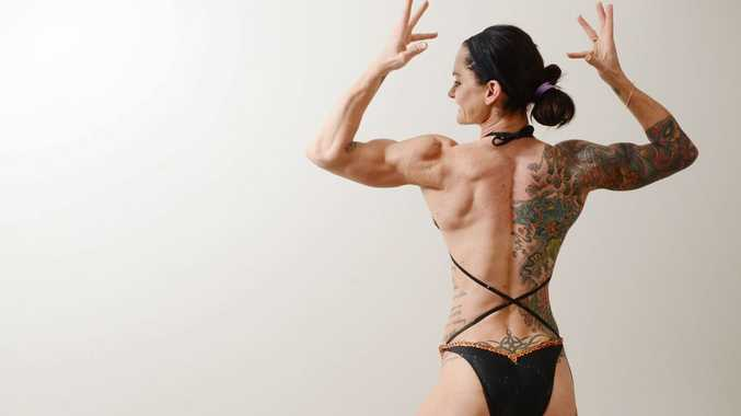 27 year old figure competitor Sherrie Gossow has recently won a Queensland body-building title. Photo: Sarah Harvey / The Queensland Times