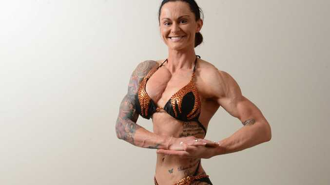 Figure competitor Sherrie Gossow, 27, will represent Queensland in a national bodybuilding contest this Sunday.