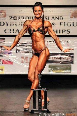 27-year-old figure competitor Sherrie Gossow recently won a Queensland body-building title. Photo: Contributed