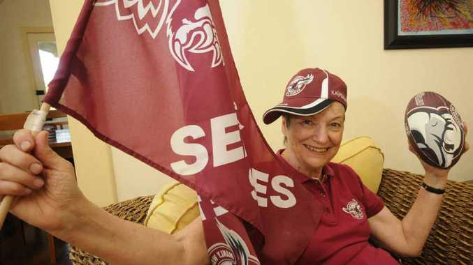 IN THE GENES: Like the rest of her family Therese Schier of Casino is a mad Manly supporter – and has been for the past 45 years. Therese was at the SCG in 1972 when Manly won there first-ever premiership.