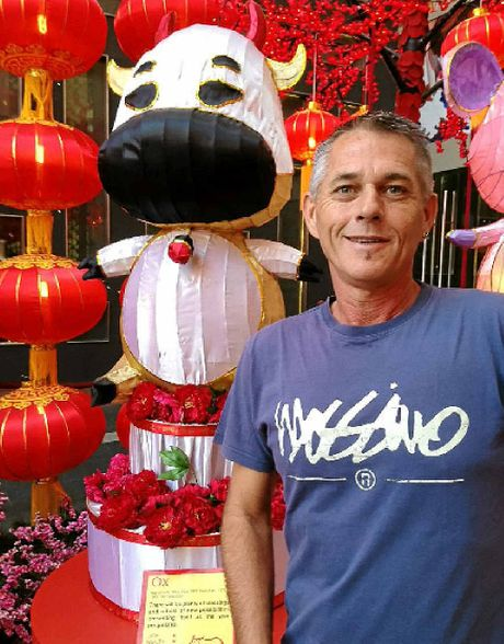 NEW BEGINNING: David Dalton pictured in Malaysia earlier this year on the evening of Chinese New Year.
