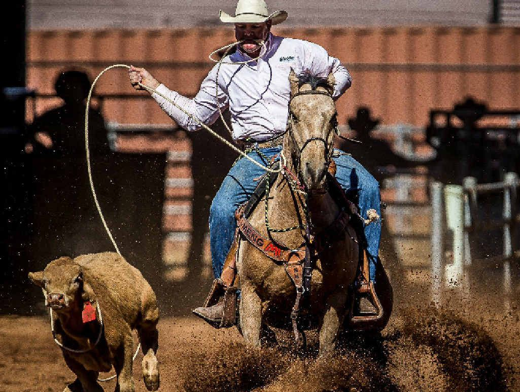 SHOW TIME: Emerald cowboy Shane Kenny is hoping to impress in front of a home crowd this weekend.