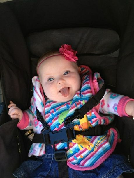 Kayleigh, who turns 1 next weekend and has down syndrome.
