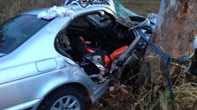 The crash wreckage at Pindi Pindi.