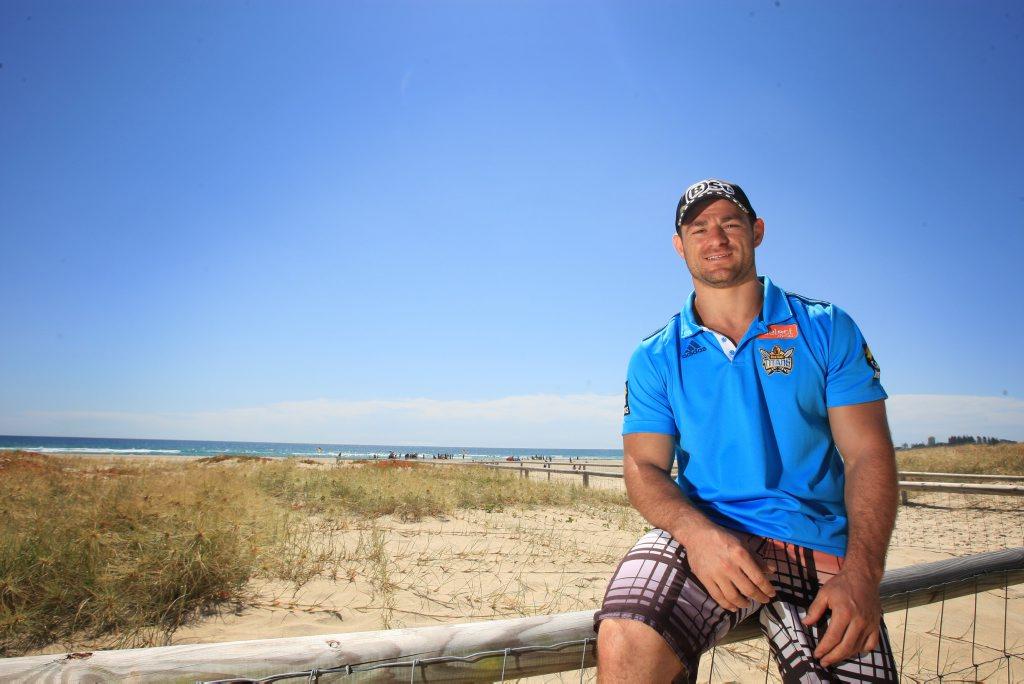 Mark Minichiello on the beach at North Kirra.