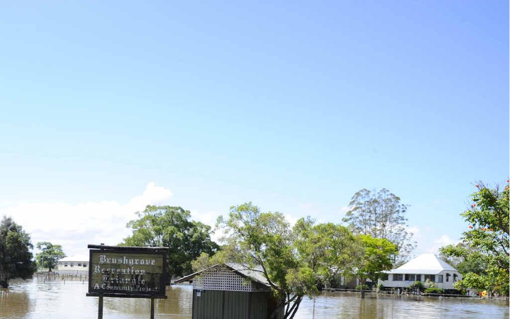 Brushgrove under flood earlier this year.PHOTO: JOJO NEWBY