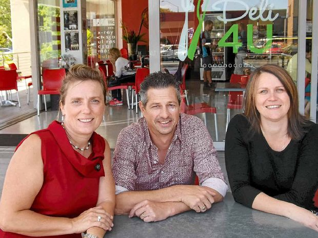 WINNING FEELING: Anke and Michael Fellner from Deli 4U with Ballina Chamber of Commerce executive officer Nadia Eliott-Burgess.