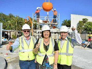 Big installation buckets of fun as Splash Zone takes shape