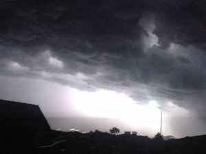 Hammering rain, pea-sized hail and lightning show in Rocky