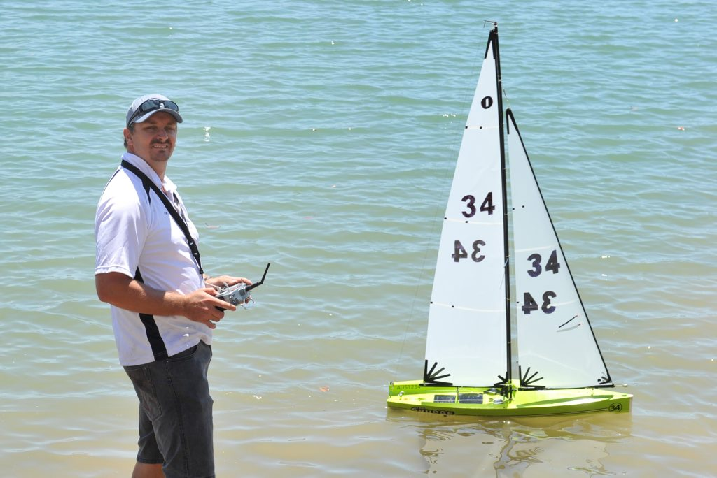 Keen sailing enthusiast Grant Cooper pictured with his remote controlled International One Metre Yacht is this week's Male Monday.