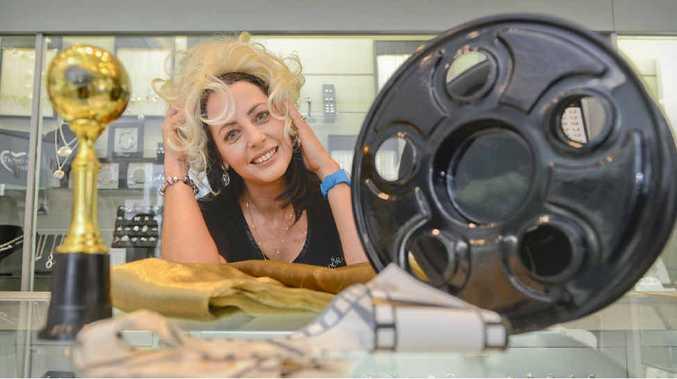 WIGGING OUT: Alison Terranova of Harveys Jewellers channels Marilyn Monroe in preparation for Jacaranda Thursday.